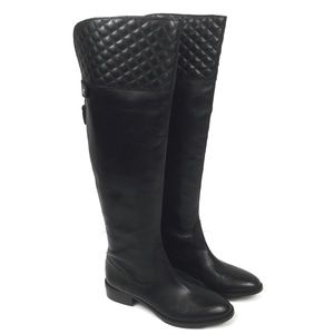 Vince Camuto Black Leather Riding Boots Tassel 6.5